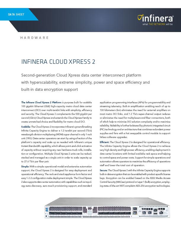 Cloud Xpress 2 Datasheet