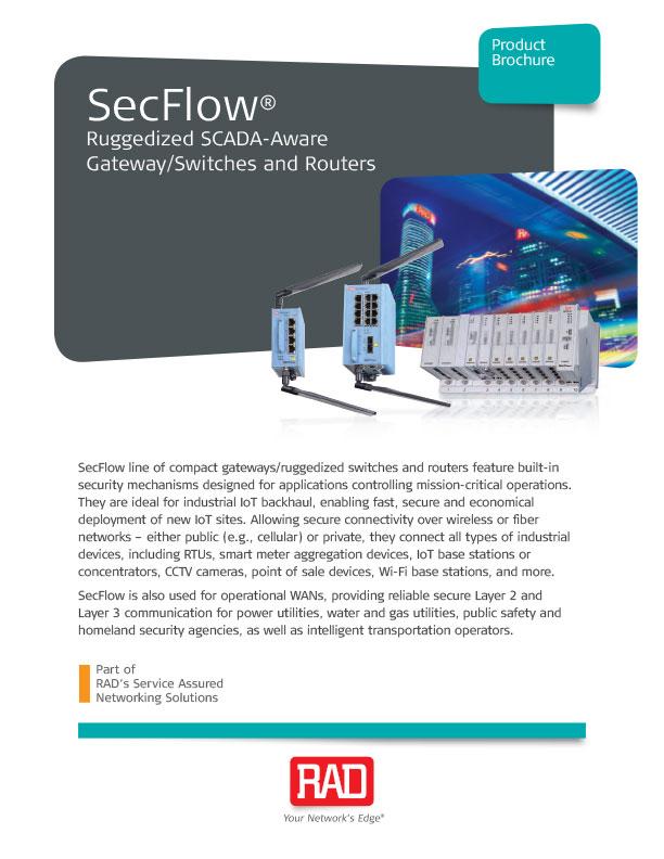 SecFlow Ruggedized SCADA Switch Router