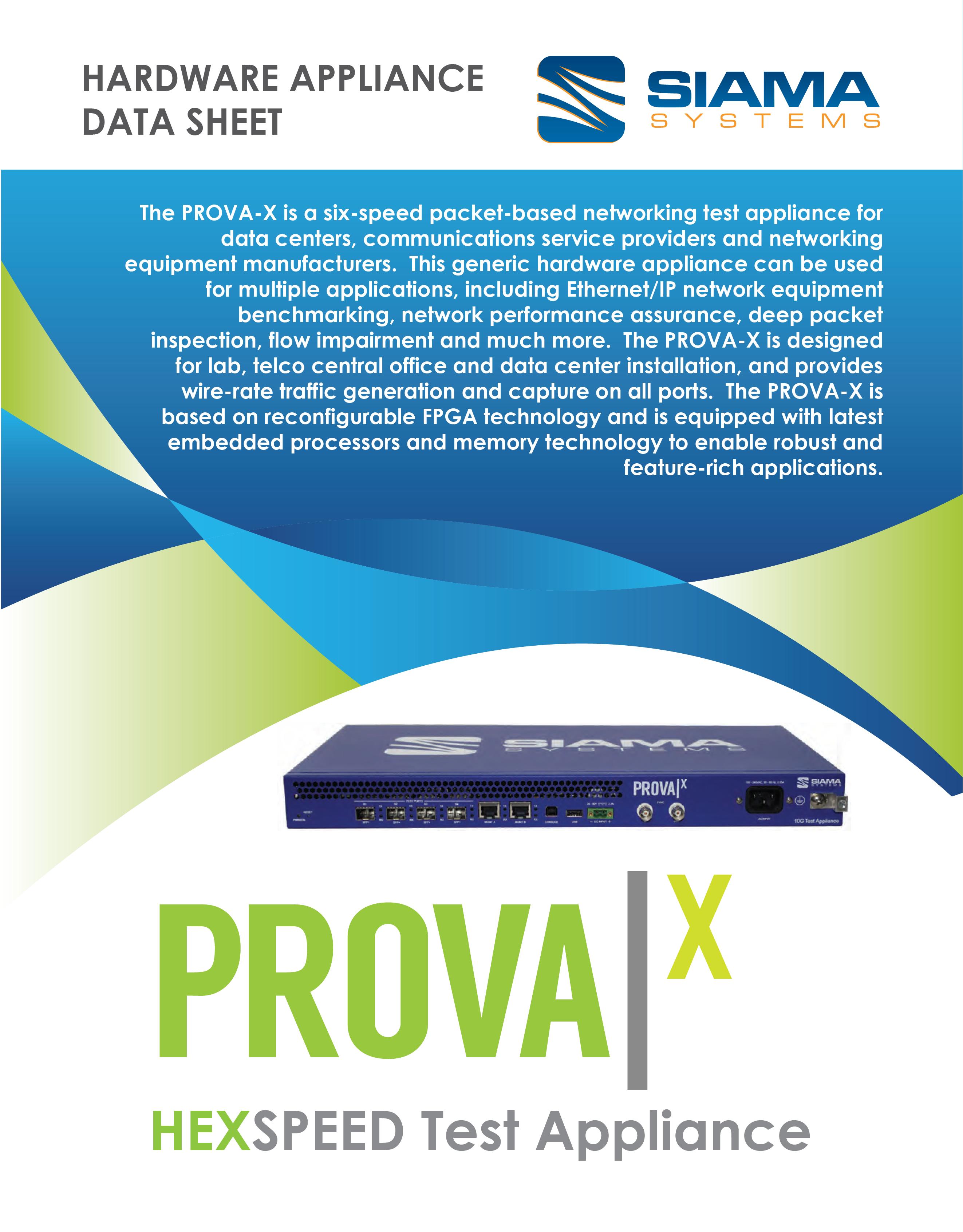 PROVA-X Datasheet